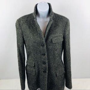 Ralph Lauren Womens Lined Wool Blend Blazer